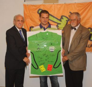 Champions League Final signed referee shirt & cards auctioned for charity